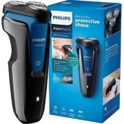 Philips Wet and Dry Protective Electric S1030 Shaver For Men (Black and Dark royal blue)