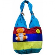 ATORAKUSHON Women's Cotton and Synthetic Teddy Multicolour Tote Bag.