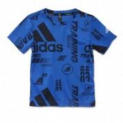 adidas T-shirt adidas bleu junior - 9-10A OL - Foot Lyon