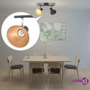 vidaXL Stropna svjetiljka za 2 žarulje E27 crno-zlatna