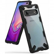 Husa Samsung Galaxy S10 Plus Ringke FUSION X Design Hexagon Black