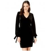 Karen Kane V-Neck Tie-Sleeve Dress Black