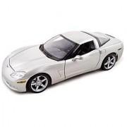 2005 Chevrolet Corvette C6 1:18 Diecast Coupe Silver