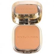 Dolce & Gabbana The Foundation Perfect Matte Powder Foundation maquillaje en polvo matificante con espejo y aplicador tono No. 150 Almond 15 g
