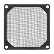 Akasa aluminio fina malla a prueba de polvo Ventilador Filtro - Negro ( 8 cm)