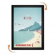 Edimeta Cadre Clic-Clac B2 70 x 50 cm NOIR