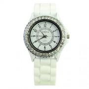 silikonové hodinky geneva Barva:: Bílá