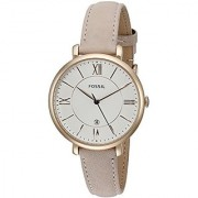 Fossil Analog Beige Dial Womens Watch-ES3988