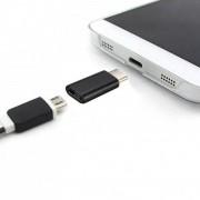 tiendatec MINI CONVERSOR MICROUSB A USB 3.1 TIPO C (NEGRO)