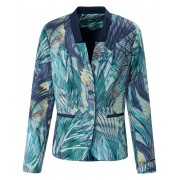 Basler Dames Blazer met paspelzakken Van Basler multicolour