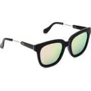 MARC LOUIS Retro Square Sunglasses(Green)
