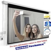 Screen Technics 100 Inch Diagonal Motorized Projector Screen Deluxe fabric Supports HD 3D 4k Technology