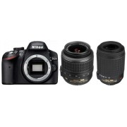 Nikon D3200+18-55MM VR II KIT+55-200MM VR+CF-EU05 BAG+SDHC 8GB CLASS 10