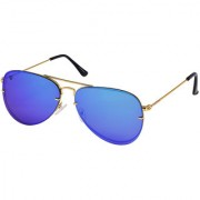 Walrus Noah Multicolor Mirror Color Unisex Aviator Sunglass - WS-NOAH-210606