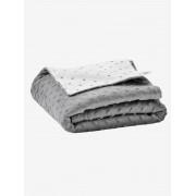 VERTBAUDET Cobertor biface em polar/moletão, para bebé, Stella cinzento escuro liso