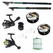 Pachet de pescuit cu 2 lansete eastshark 2 4m si 3 6m doua mulinete si accesorii