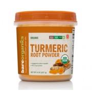 BareOrganics TURMERIC (Curcuma) ROOT POWDER (Raw-Organic) (8oz) 227g