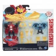 Transformers Robots in Disguise Decepticon Hunter Sideswipe vs. Mini-Con Decepticon Anvil B4715