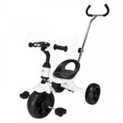 Tricicleta cu Pedale, Maner Parental, Sunete si Lumini pentru Copii, Capacitate 25 kg, Culoare Alb
