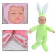 SKKY BELL Plush Rabbit Stuffed Baby Doll Simulated Babies Sleeping Dolls Children Toy, 25cm (Multicolour)