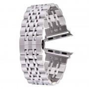 Voor Apple Watch 42mm verborgen Butterfly Buckle 7 parels roestvrij staal Watchband(Silver)