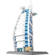 The BURJ AL ARAB hotel of Dubai BUILDING BLOCKS 1307 pcs HUGE GIFT box !! Compatible with Lego parts ! World's great architecture series