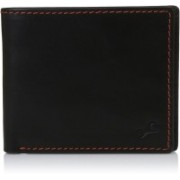 Fastrack Men Casual Black Genuine Leather Wallet(4 Card Slots)