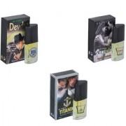 Skyedventures Set of 3 Devdas-Romantic-Titanic Perfume