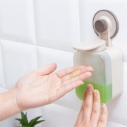 Vacuum Suction Cup Soap Dispenser Wall-mounted Punch-free for Bathroom Kitchen Dish Washing Liquid
