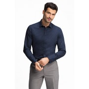 C&A Businesshemd Body Fit, Blauw, Maat: 43