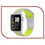 Nike Умные часы APPLE Watch Nike+ 42mm Silver Aluminium Case with Flat Silver-Volt Nike Sport Band MNYQ2RU/A