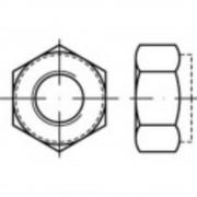 Sigurnosna matica M10 ISO 7040 nehrđajući čelik A2 500 kom.