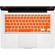 Kuzy - ORANGE Keyboard Cover Silicone Skin for MacBook Pro 13 15 17 (with or w/out Retina Display) iMac and MacBook Air 13 - Orange