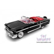 1958 Chevy Impala Convertible, Black - Motor Max 73112 - 1/18 Scale Diecast Model Toy Car