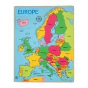 Puzzle incastru Europa, 25 piese, 38 x 29.5 x 1 cm