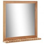 vidaXL Огледало за баня, 60x12x62 см, орехово дърво масив