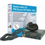 Kit Statie radio CB PNI ESCORT HP 8001L ASQ + Casti HS81 + Antena CB PNI ML100 cu magnet