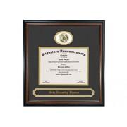 Signature Announcements St-Cloud-State-University Sello de lámina de graduación/Profesional/Doctor esculpido y Marco de Diploma de Nombre, 40,6 x 40,6 cm, Caoba Mate