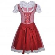 vidaXL Karnevalový kostým - bavorské děvče se zástěrkou M / L - červený