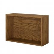 [en.casa]® Variabilní designový systém - skříňky / poličky - 45x30x15 cm - imitace ořechového dřeva