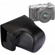 Full Body Camera PU lederen tas tas met riem voor Canon EOS M6 (zwart)