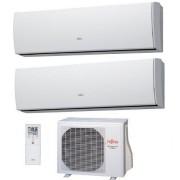 Fujitsu Climatizzatore Condizionatore Fujitsu Dual Split Parete Inverter Serie F Ii Mod. Slyde Lu 12000+12000 Btu Con Aoyg18l
