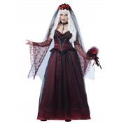 Deguisetoi Déguisement de mariée vampire gothique femme Halloween - Taille: L (42/44)