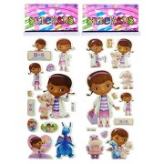 3 Sheets Puffy Dimensional Scrapbooking Party Stickers-Free USA Shipping - DOC McStuffins by Stickers Forever