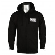 sweat-shirt avec capuche pour hommes Nine Inch Nails - CLASSIC WHITE LOGO - PLASTIC HEAD - RTNIN0005