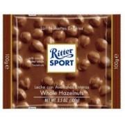 Ciocolata cu Lapte si Alune Intregi Ritter Sport 100g