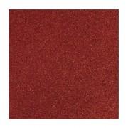 Rayher hobby materialen 1x stuks rood glitter papier vellen 30.5 x 30.5 cm