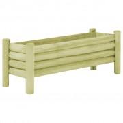 vidaXL Jardinieră de grădină, 120 x 40 x 42 cm, lemn de pin tratat FSC