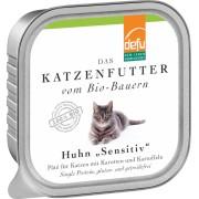 Pate Bio pentru pisici sensibile, cu pui si morcov, 100g, Defu