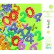 DJECO Drewniane cyfry magnetyczne dla dzieci - cyferki do nauki liczenia, DJ03103